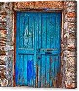 Traditional Door 2 Acrylic Print by Emmanouil Klimis