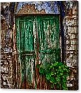 Traditional Door Acrylic Print by Emmanouil Klimis