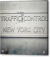 Traffic Control Acrylic Print by Lisa Russo