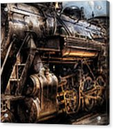 Train - Engine -  Now Boarding Acrylic Print by Mike Savad