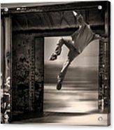 Train Jumping Acrylic Print by Bob Orsillo