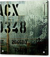 Train Plate Two Acrylic Print by April Lee