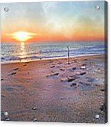 Tranquility Beach Acrylic Print by Betsy C Knapp