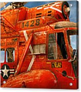 Transportation - Helicopter - Coast Guard Helicopter Acrylic Print by Mike Savad