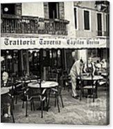 Trattoria In Venice  Acrylic Print by Madeline Ellis