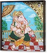 Travelling Ganesh Acrylic Print by Jayashree