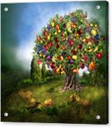 Tree Of Abundance Acrylic Print by Carol Cavalaris