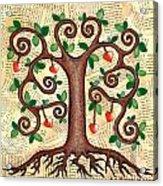 Tree Of Hearts Acrylic Print by Lisa Frances Judd