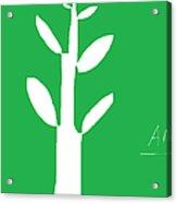 Tree On Green Acrylic Print by Anita Dale Livaditis