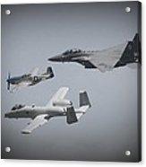 Tribute Flight Wafb 09 Tribute Flight Acrylic Print by David Dunham