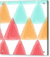 Trifold- Colorful Abstract Pattern Painting Acrylic Print by Linda Woods