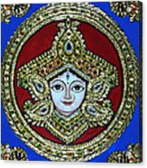 trinetra Durgaji Acrylic Print by Vimala Jajoo