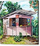 Trini Roti Shop Acrylic Print by Karin  Dawn Kelshall- Best