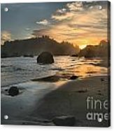 Trinidad Sunset Reflections Acrylic Print by Adam Jewell