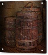 Triple Barrels Acrylic Print by Susan Candelario
