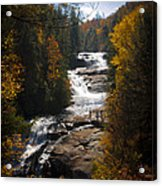 Triple Falls Acrylic Print by Penny Lisowski