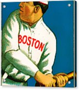 Tris Speaker Boston Red Sox Baseball Card 0520 Acrylic Print by Wingsdomain Art and Photography