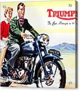 Triumph 1953 Acrylic Print by Mark Rogan