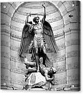 Triumphant Saint Michael Acrylic Print by Carol Groenen