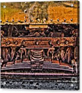 Trolley Train Details Acrylic Print by Susan Candelario
