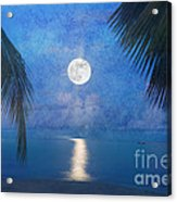 Tropical Moonglow Acrylic Print by Betty LaRue