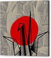 Tsuru Acrylic Print by Cheryl Young