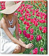 Tulip Beauty Acrylic Print by Maria Dryfhout