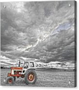 Turbo Tractor Superman Country Evening Skies Acrylic Print by James BO  Insogna