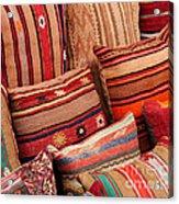 Turkish Cushions 02 Acrylic Print by Rick Piper Photography