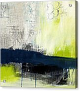 Turning Point - Contemporary Abstract Painting Acrylic Print by Linda Woods