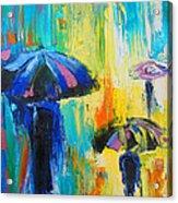 Turquoise Rain Acrylic Print by Susi Franco