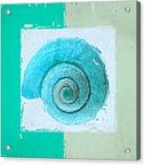 Turquoise Seashells X Acrylic Print by Lourry Legarde