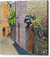 Tuscan Alley Acrylic Print by Marguerite Chadwick-Juner