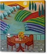 Tuscan Dreams Acrylic Print by Victoria Lakes