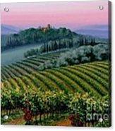 Tuscan Dusk Acrylic Print by Michael Swanson