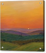 Tuscan Twilight 1 Acrylic Print by Cecilia Brendel