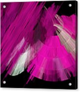 Tutu Stage Left Abstract Fuchsia Acrylic Print by Andee Design
