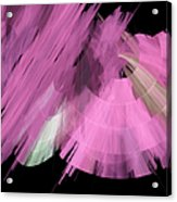 Tutu Stage Left Abstract Pink Acrylic Print by Andee Design