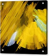 Tutu Stage Left Abstract Yellow Acrylic Print by Andee Design