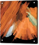 Tutu Stage Left Peach Abstract Acrylic Print by Andee Design