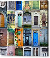 Twenty Four French Doors Collage Acrylic Print by Georgia Fowler