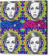 Twiggy Acrylic Print by Alexander Gilbert