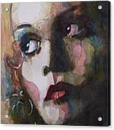 Twiggy Where Do You Go My Lovely Acrylic Print by Paul Lovering