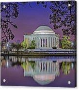 Twilight At The Thomas Jefferson Memorial  Acrylic Print by Susan Candelario