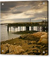 Twilight Cape Porpoise Maine Acrylic Print by Bob Orsillo