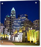 Twilight In Charlotte Acrylic Print by Serge Skiba