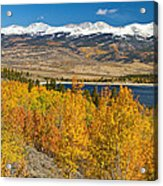 Twin Lakes Colorado Autumn Landscape Acrylic Print by James BO  Insogna