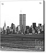 Twin Towers From Staten Island Acrylic Print by John Rizzuto