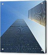 Twin Towers Acrylic Print by Jon Neidert