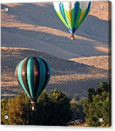 Two Balloons In Morning Sunshine Acrylic Print by Carol Groenen